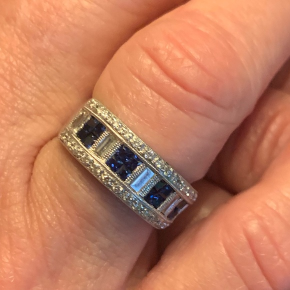 Bailey Banks Briddle Jewelry Bailey Banks Biddle 18k Sapphire Diamond Ring Poshmark